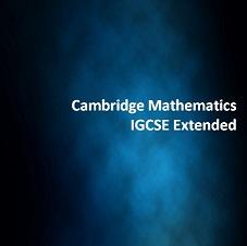 Cambridge Mathematics IGCSE Extended
