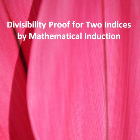 Divisibility Proof for Two Indicesf by Mathematical Induction