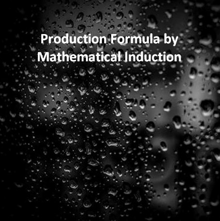 Production Formula by Mathematical Induction