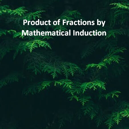 Production of Fraction Proof by Mathematical Induction