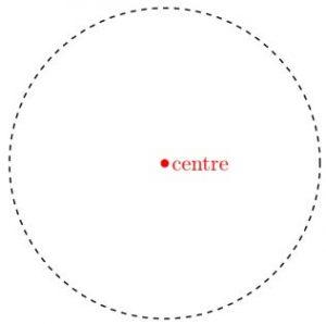 centre of a circle